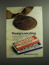 1984 Nestle Milk Chocolate with Almonds Candy Bar Ad - $14.99