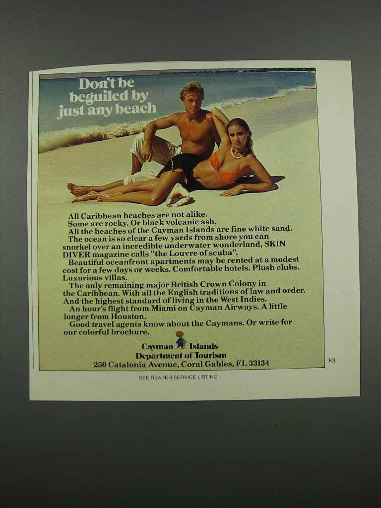 Primary image for 1983 Cayman Islands Department of Tourism Ad - Beguiled