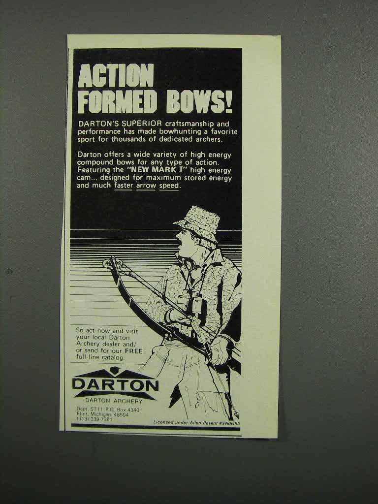 Primary image for 1983 Darton Archery Ad - Action Formed Bows