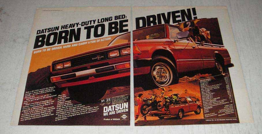 Primary image for 1983 Datsun Heavy-Duty Long Bed Pickup Truck Ad