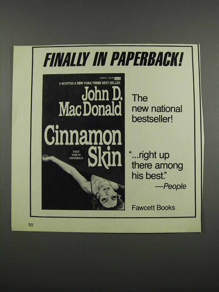 Primary image for 1983 Fawcett Books Cinnamon Skin Novel Ad