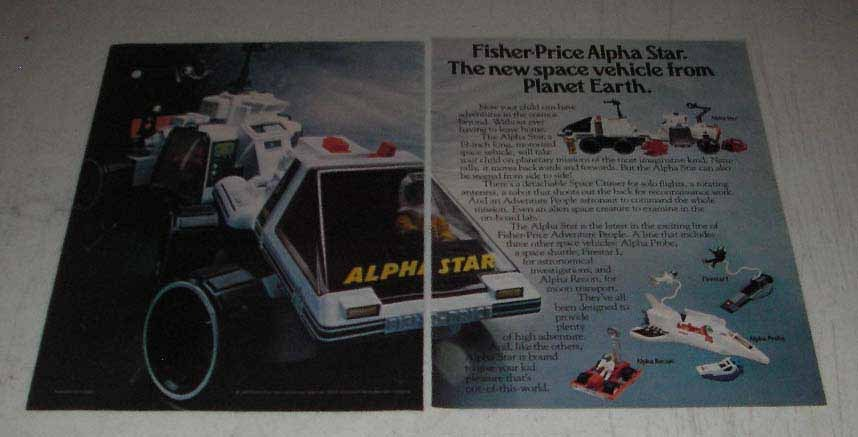 Primary image for 1983 Fisher-Price Ad - Alpha Star, Firestar I