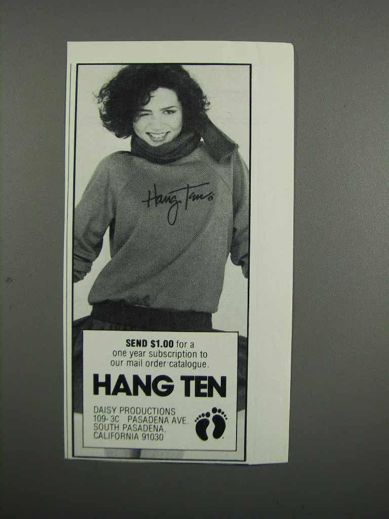 Primary image for 1983 Hang Ten Women's Fashion Ad - NICE