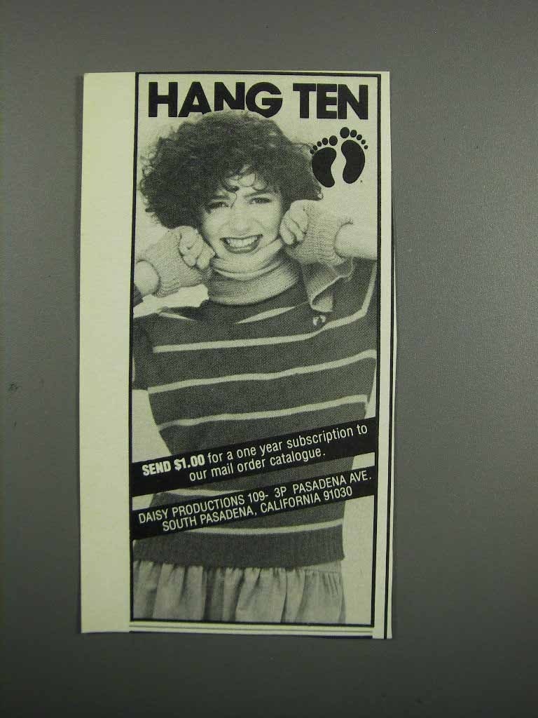 Primary image for 1983 Hang Ten Women's Fashion Ad - sweater, scarf, gloves