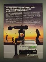 1984 Panasonic PV-9600 Hi-Fi Video Recorder Ad - $14.99