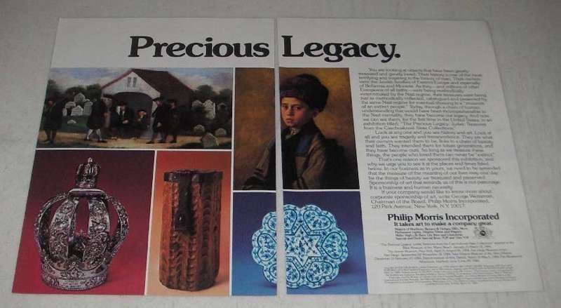 Primary image for 1984 Philip Morris Incorporated Ad - Precious Legacy