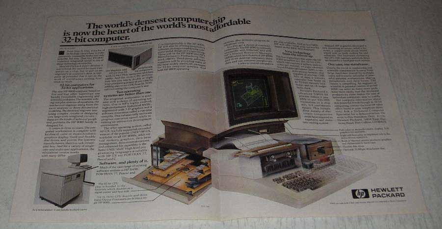 Primary image for 1983 Hewlett-Packard 9000 Computer Ad - Densest Chip