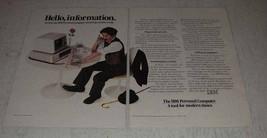 1983 IBM Personal Computer Ad - Hello, Information - $14.99