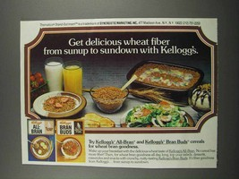 1983 Kellogg's All-Bran and Bran Buds Cereal Ad - Delicious - $14.99