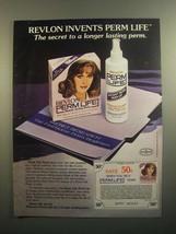 1984 Revlon Perm Life Instant Styling Perm Ad - $14.99