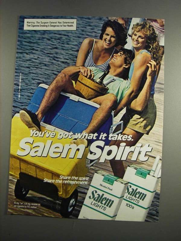 Primary image for 1984 Salem Cigarettes Ad - You've Got What it Takes - NICE