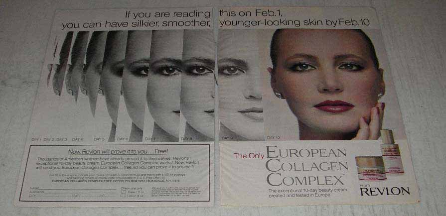 Primary image for 1983 Revlon European Collagen Complex Ad - Silkier
