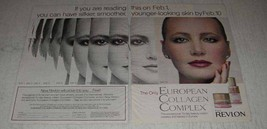 1983 Revlon European Collagen Complex Ad - Silkier - $14.99