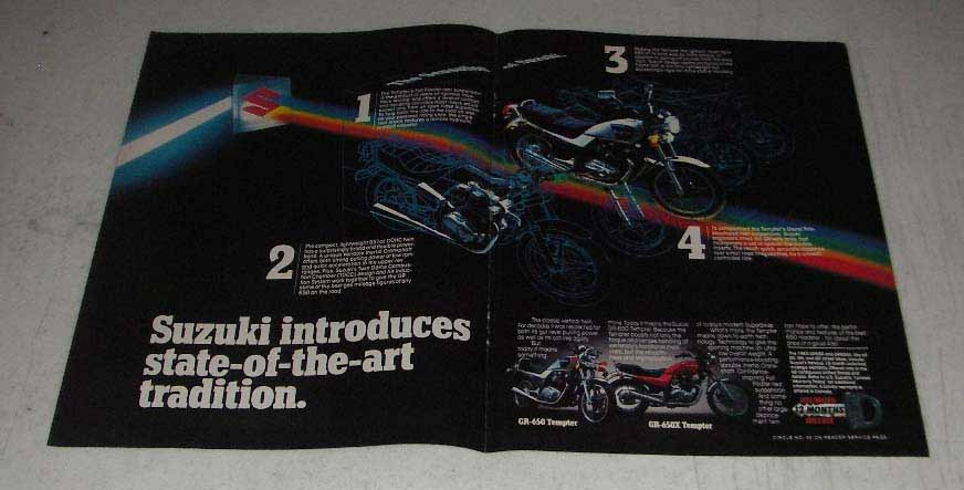 Primary image for 1983 Suzuki GR-650 & GR-650X Tempter Motorcycle Ad
