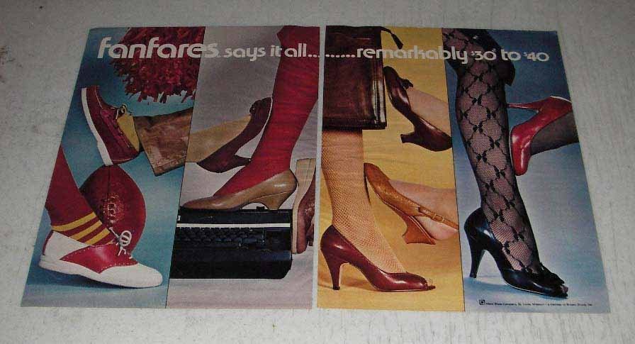 Primary image for 1983 Wohl Shoe Company Fanfares Shoes Ad - Says it All
