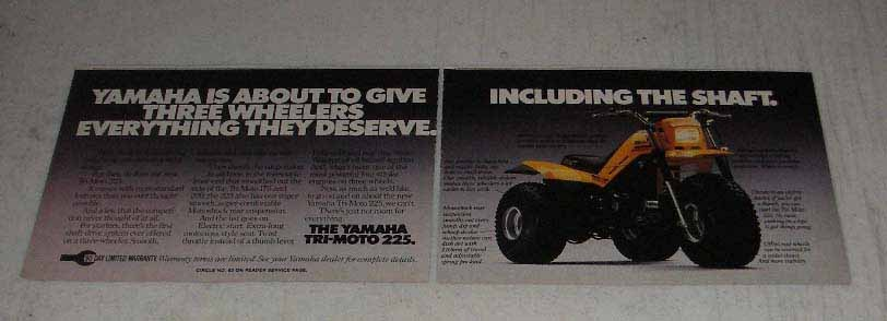Primary image for 1983 Yamaha Tri-Moto 225 Ad - Give the Shaft