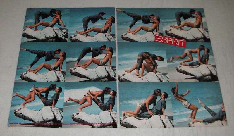 Primary image for 1984 2-page Esprit Fashion Ad