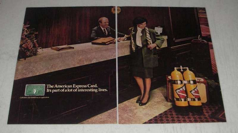 Primary image for 1984 American Express Card Ad - Lot of Interesting Lives