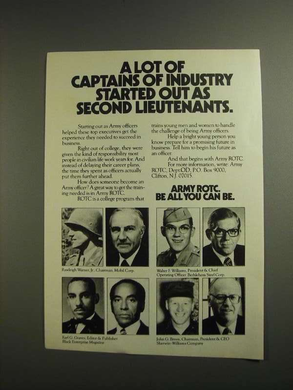 Primary image for 1984 Army ROTC Ad - Lot of Captains of Industry