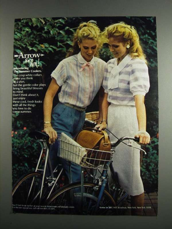 Primary image for 1984 Arrow For Her Fashion Ad