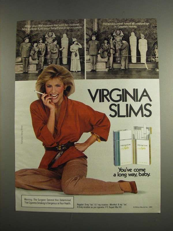 Primary image for 1984 Virginia Slims Cigarettes Ad - Museum Tour