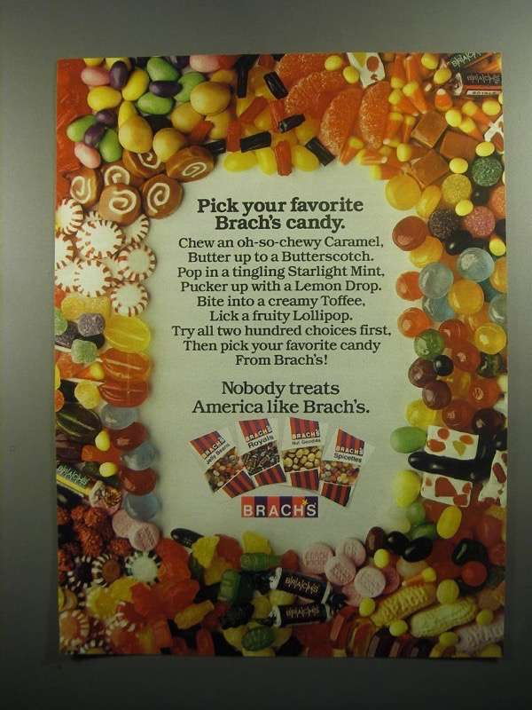 Primary image for 1984 Brach's Candy Ad - Pick Your Favorite