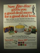 1984 Borden Lite-Line Cheese Ad - Gives You Good Deal - $14.99