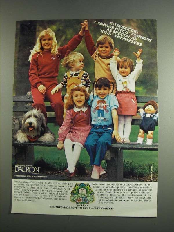 Primary image for 1984 Cabbage Patch Kids Clothes Ad - As Special