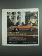 1984 Cadillac Eldorado Ad - Car That Dreams Are Made Of - $14.99