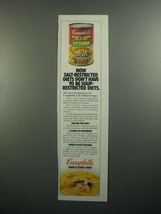 1984 Campbell's Low Sodium Chicken with Noodles Soup Ad - $14.99