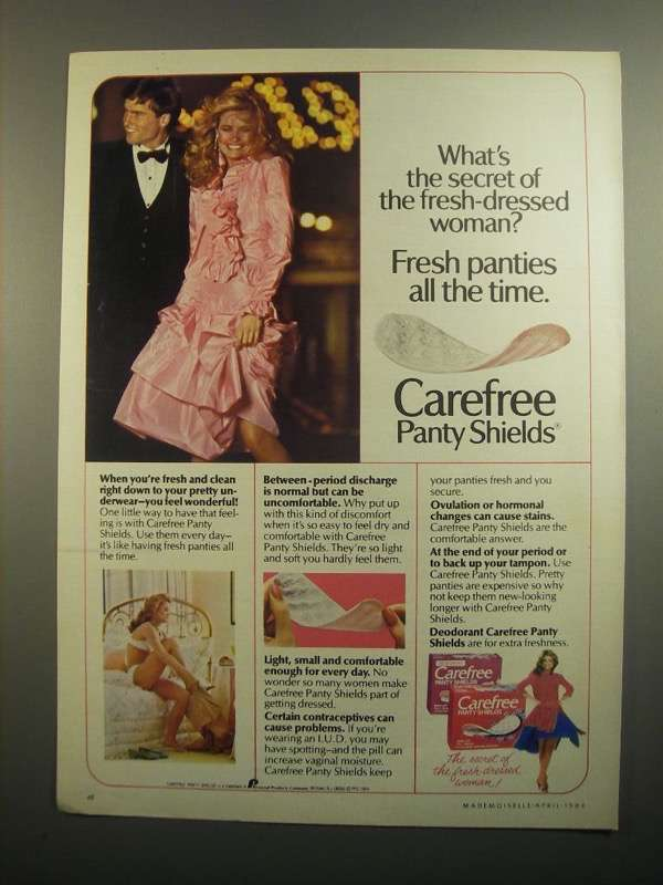 Primary image for 1984 Carefree Panty Shields Ad - What's the Secret?