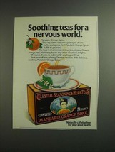 1984 Celestial Seasonings Mandarin Orange Spice Tea Ad - $14.99