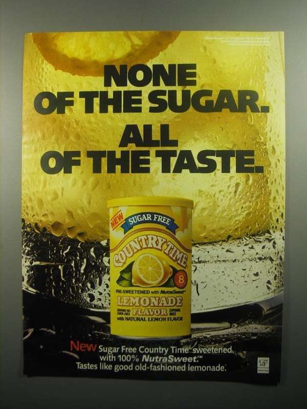 Primary image for 1984 Country Time Lemonade Ad - None of the Sugar