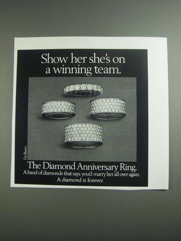 Primary image for 1984 De Beers Diamond Anniversary Ring Ad - Winning