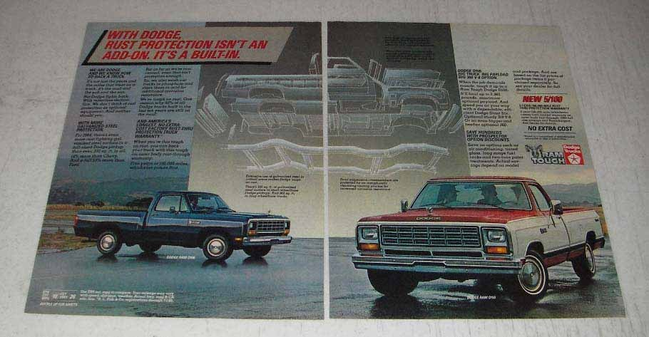Primary image for 1984 Dodge Ram D150 and Ram D100 Pickup Trucks Ad