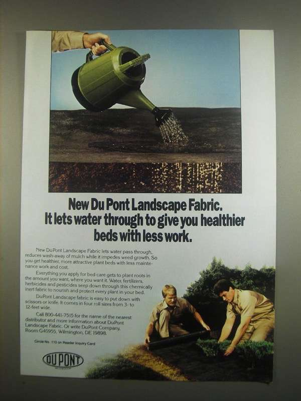 Primary image for 1984 Du Pont Landscape Fabric Ad - Lets Water Through