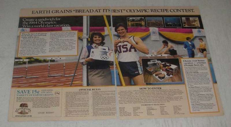 Primary image for 1984 Earth Grains Bread Ad - Best Olympic Recipe