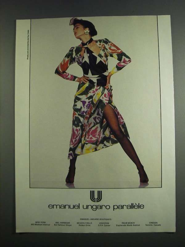 Primary image for 1984 Emanuel Ungaro Parallele Fashion Ad