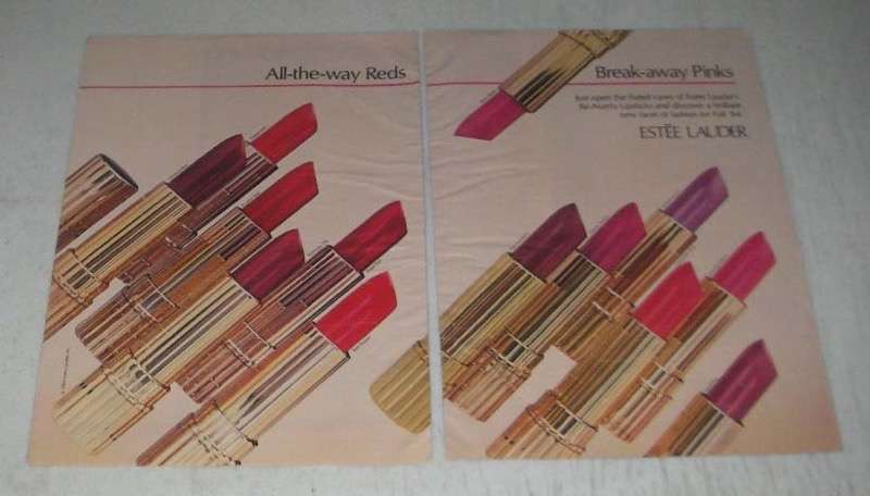 Primary image for 1984 Estee Lauder Re-Nutriv Lipstick Ad - All-the-way