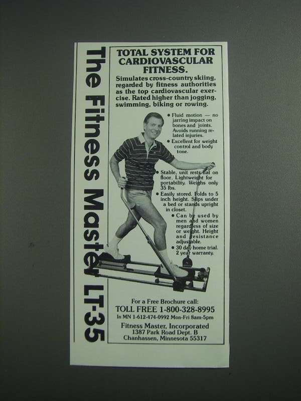 Primary image for 1984 Fitness Master LT-35 Exercise Machine Ad