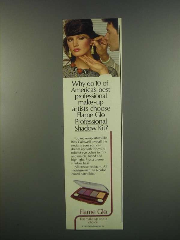 Primary image for 1984 Flame Glo Professional Shadow Kit Ad - Artists