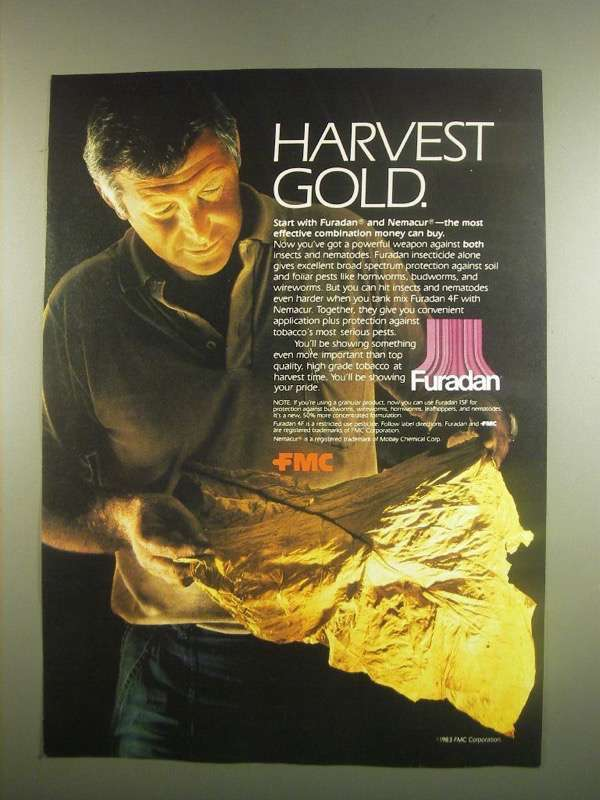 Primary image for 1984 FMC Furadan Ad - Harvest Gold