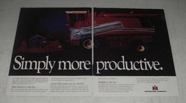 1984 International Harvester Axial-Flow Combine Ad - $14.99