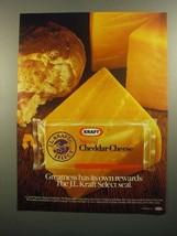 1984 J.L. Kraft Select Natural Cheddar Cheese Ad - $14.99