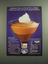 1984 Jell-O Pudding and Cool Whip Ad - Luscious Layers - $14.99
