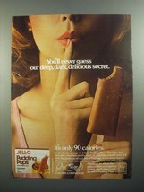 1984 Jell-O Pudding Pops Ad - Deep, Dark, Delicious - $14.99