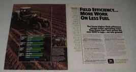 1984 John Deere 1650 Tractor Ad - Field Efficiency - $14.99