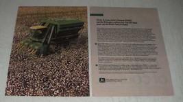 1984 John Deere 9940 Picker Ad - Picks 2-Bale Cotton - $14.99