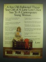 1984 Lane Love Chest Ad - No. 3969 Cherry - $14.99