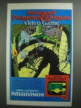 1984 Mattel Advanced Dungeons & Dragons Video Game Ad - $14.99